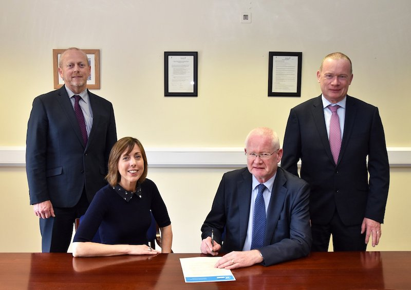 Stephanie Casey, IAW Programme Manager with Revenue Commissioners, Niall Cody (Chairman), Michael Gladney and Gerry Harrahill